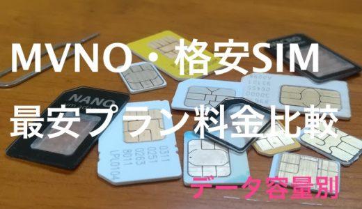 最安値はどこ?MVNO(格安SIM)各社のデータ容量別の最安プランを徹底比較